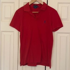 Ralph Lauren Womens Red Polo Shirt Size M